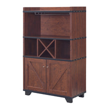 Gainesville Vintage Walnut Wine Cabinet