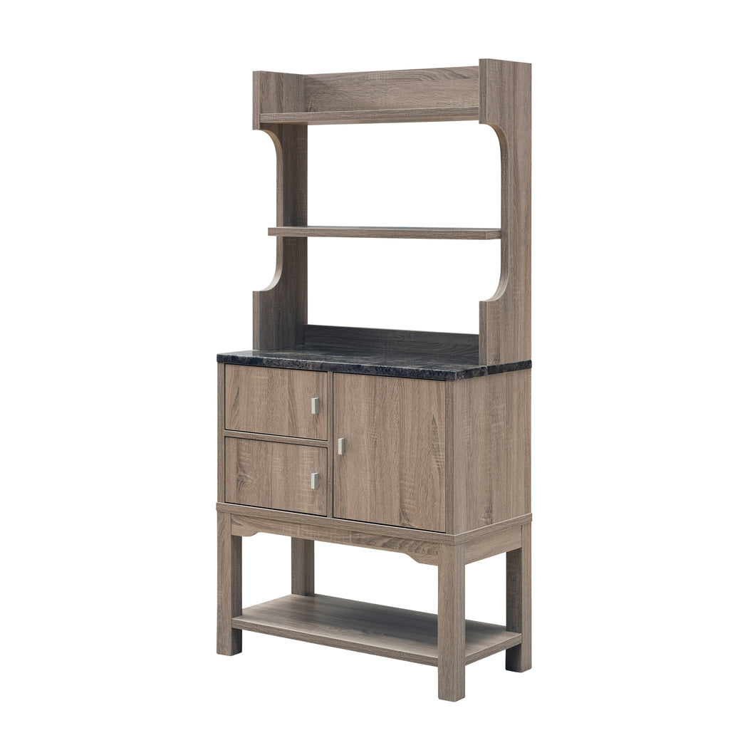 Lorry Casual Dark Taupe Storage Cabinet