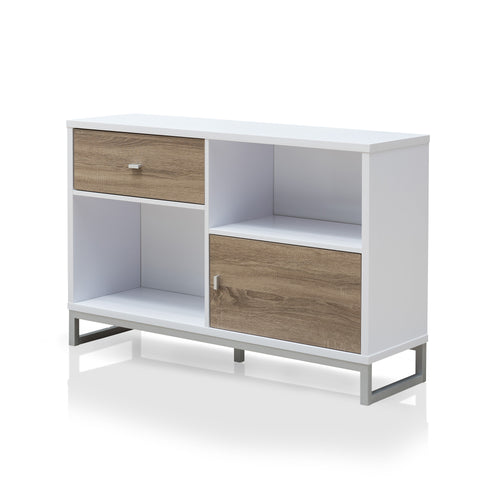 Kolber Contemporary White Storage Cabinet