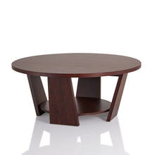 Amber Vintage Walnut Round Coffee Table
