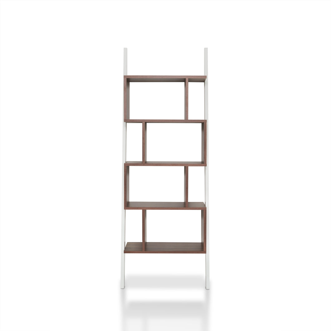 Contemporary Leaning Tower Bookshelf Display Stand