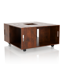 Rustic Style Crate Walnut Coffee Table