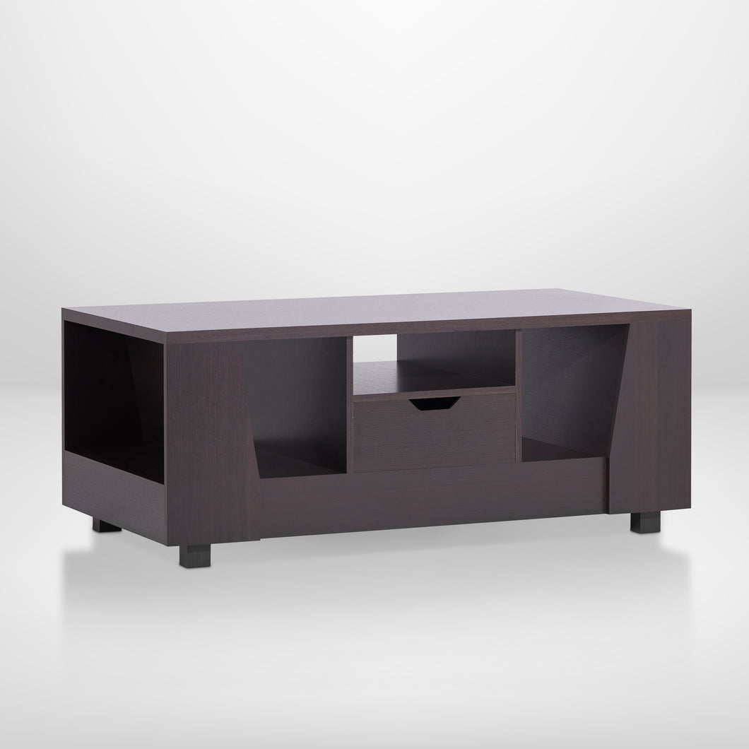 Trina Contemporary Espresso Finish Coffee Table