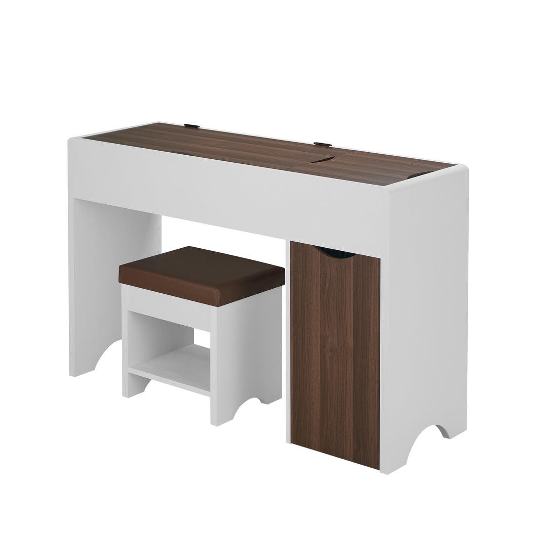 Market Contemporary White Vanity Table