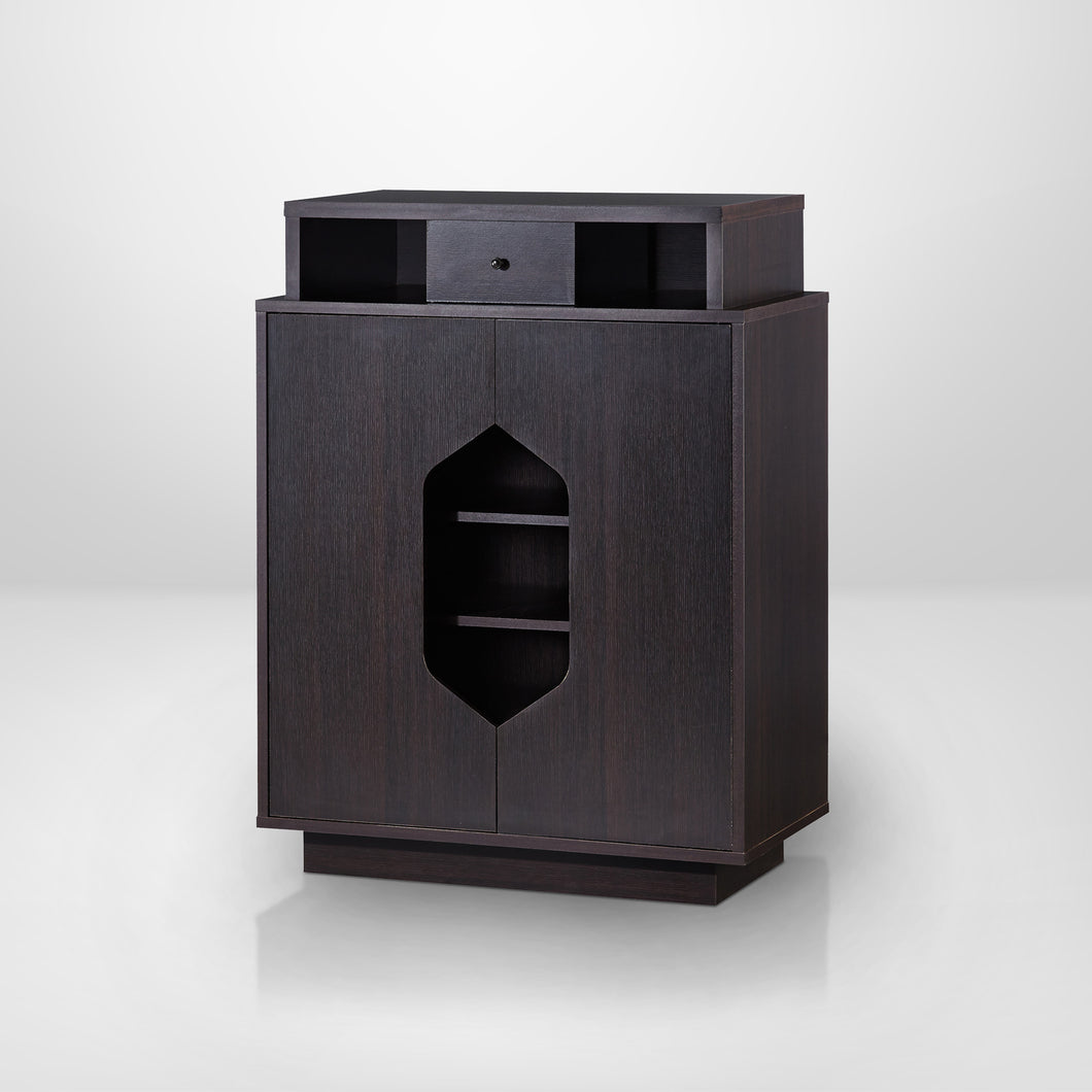 Whitley Contemporary Cappuccino Storage Shoe Cabinet