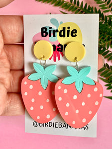 Pastel Strawberry Earrings