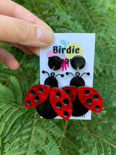 Load image into Gallery viewer, lady- bug- earrings