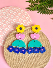 Load image into Gallery viewer, large multi coloured earrings