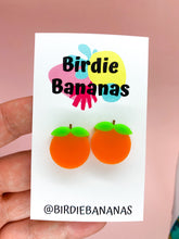 Load image into Gallery viewer, Orange Stud Earrings
