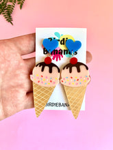 Load image into Gallery viewer, Ice Cream Earrings with Hearts