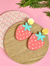 Load image into Gallery viewer, Pastel Strawberry Earrings