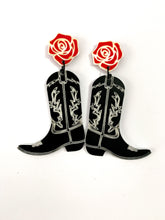 Load image into Gallery viewer, cowboy- boot - earrings