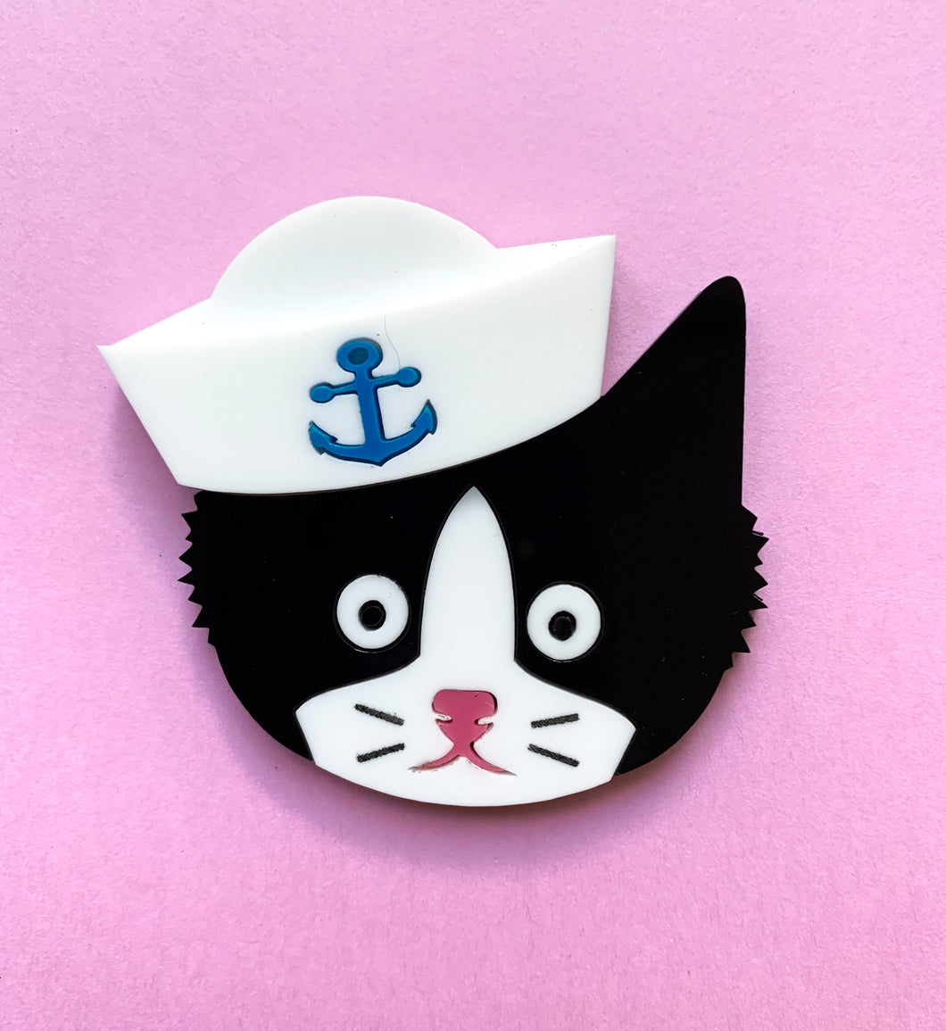Sailor Cat Brooch