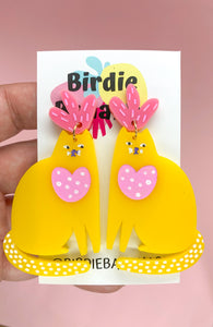 Colourful Love Cat Earrings