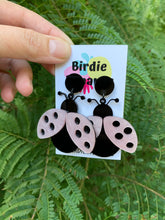 Load image into Gallery viewer, Pink Ladybug Earrings