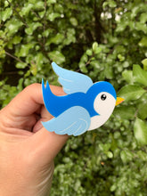 Load image into Gallery viewer, Classic Blue Bluebird Brooch