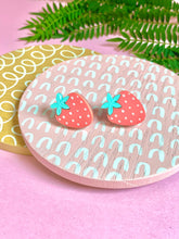 Load image into Gallery viewer, strawberry stud earrings