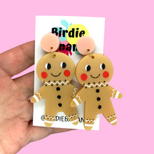 Load image into Gallery viewer, gingerbread earrings christmas gift for women