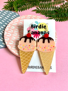 acrylic ice cream earrings