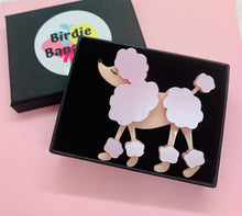 Load image into Gallery viewer, pink french poodle acrylic brooch