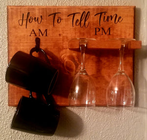 AM/PM Coffee and Wine Sign