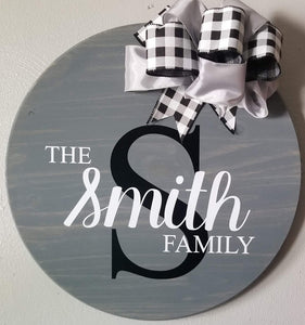 "18"" Personalized Door Hangers"