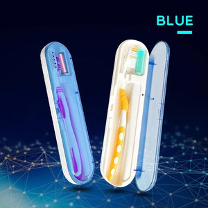 Portable UV Antibacterial Toothbrush Storage Box