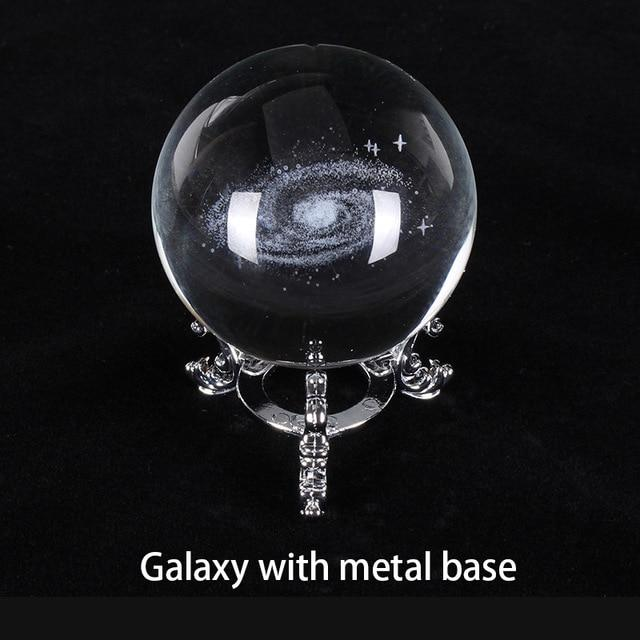 Engraved Galactic Solar System Crystal Ball Lamp