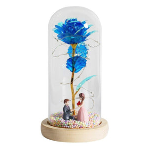 LED Enchanted Glass Galaxy Roses