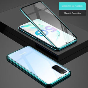 Two Side Tempered Glass Magnetic Adsorption Phone Case for Samsung