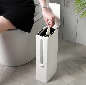 Creative Toilet Brush Multifunction Trash Can Storage