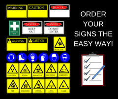 industrial signs, poster, workplace, worksite