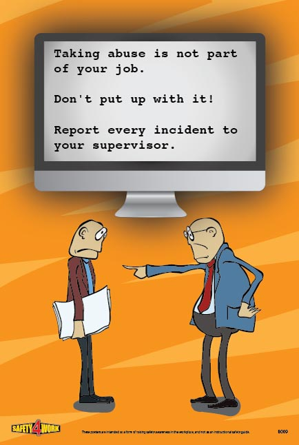 B009- Behaviour Workplace Safety Poster