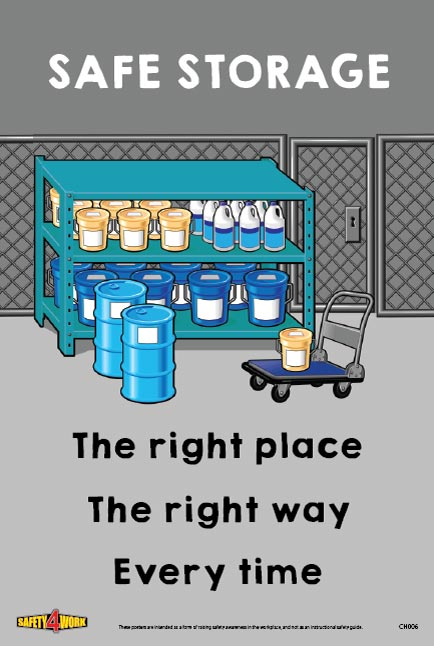 CH006- Chemical Workplace Safety Poster