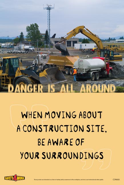 CON003- Construction Workplace Safety Poster