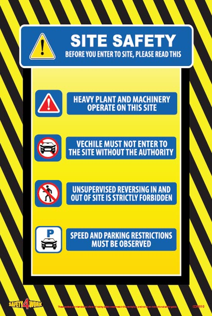 CON010- Construction Workplace Safety Poster