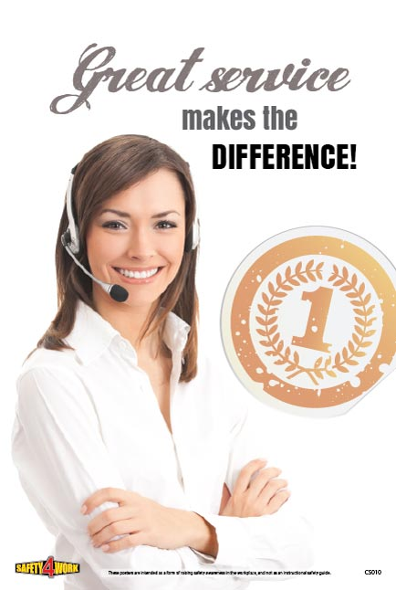 CS010- Customer Service Workplace Safety Poster