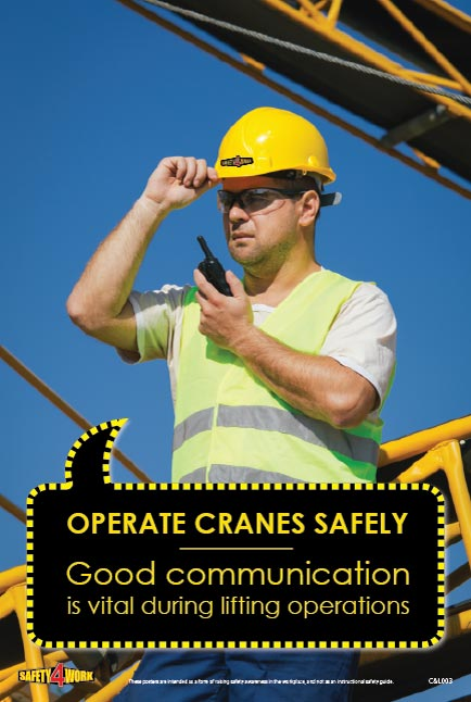 C&L003- Cranes and Lifting Workplace Safety Poster