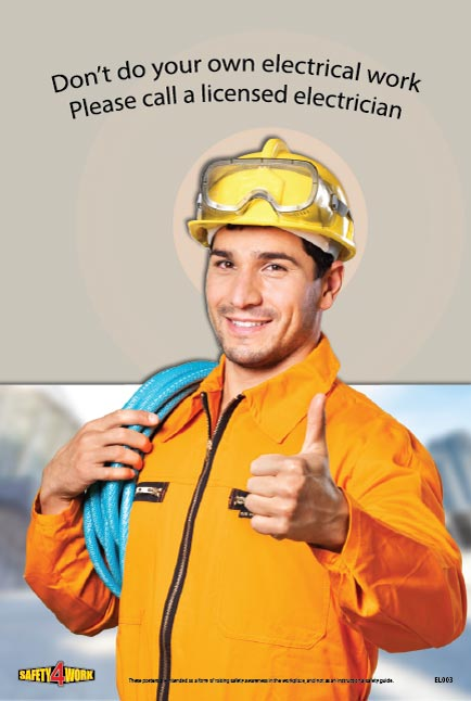 EL004- Electrical Workplace Safety Poster