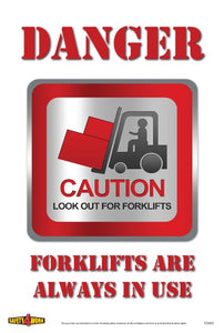 FO001- Forklift Workplace Safety Poster