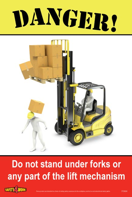 FO004- Forklift Workplace Safety Poster