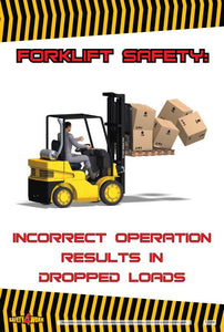 FO006- Forklift Workplace Safety Poster