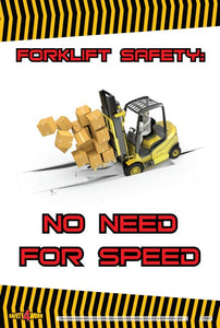 FO007- Forklift Workplace Safety Poster