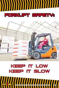 FO008- Forklift Workplace Safety Poster