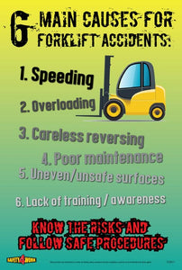 FO011- Forklift Workplace Safety Poster
