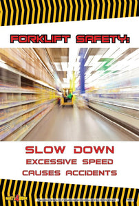 FO013- Forklift Workplace Safety Poster