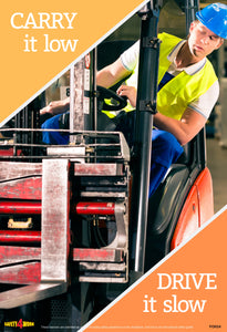 FO014- Forklift Workplace Safety Poster