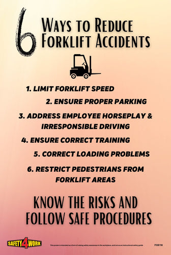 Safety, Forklifts, Workplace, Ways to reduce forklift accidents