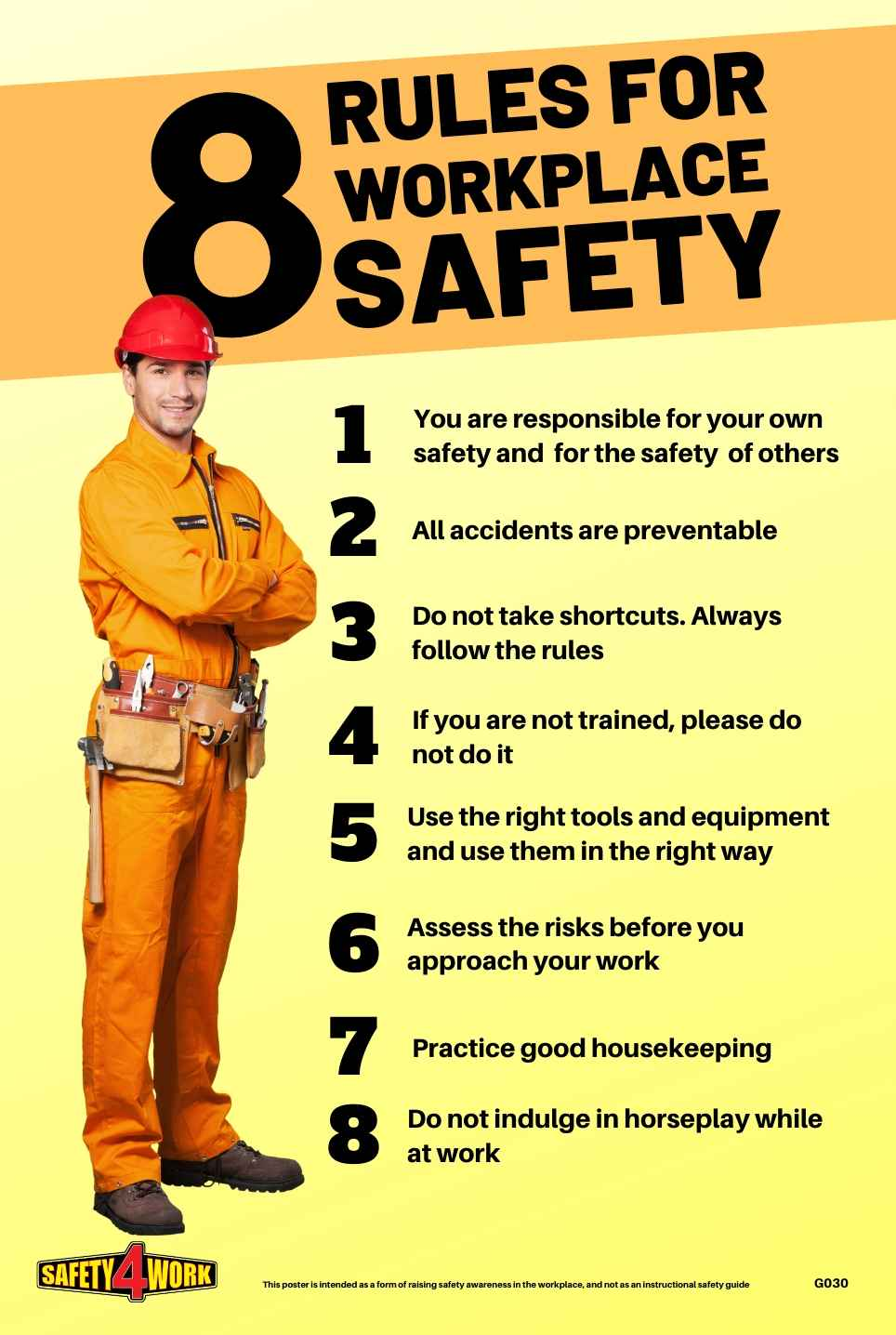G030- General Workplace Safety Poster