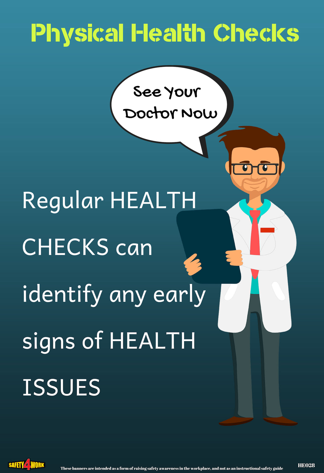 HE028- Health Workplace Safety Poster